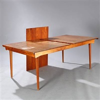 dining table with two underlying additional leaves (model fd 540) by finn juhl
