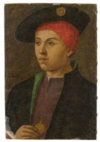 porträt eines jungen mannes mit barett und münze by anonymous (16)