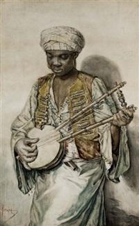 le musicien arabe by francisco peralta del campo