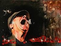portrait of kim larsen by niels corfitzen