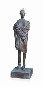donna in piedi (striptease) by giacomo manzù