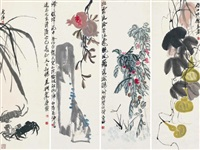 various subjects (in 4 parts) by qi baishi
