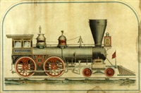 locomotive engine no. 707, hinkley & williams, boston by alvan andren