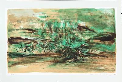 composition en vert by zao wou-ki