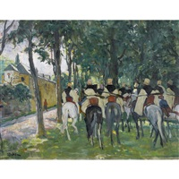 kavallerie am stadtrand by lucien simon