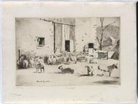 sheep yard by daniel garber
