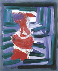 man in window by karel appel