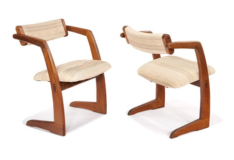 set of new chairs 4 works by richard patterson