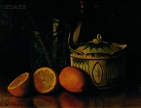 still life with lemons and crockery by edward taylor snow