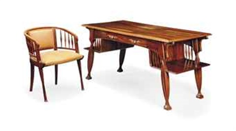 desk and chair 2 works by louis majorelle