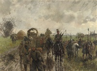 cavalry between pont à vendin and carvin, france by theodor rocholl