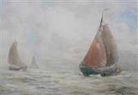 fishing boats by john ernest aitken