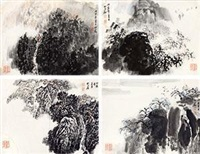 江南风光四景 (4 works) by zhao songtao