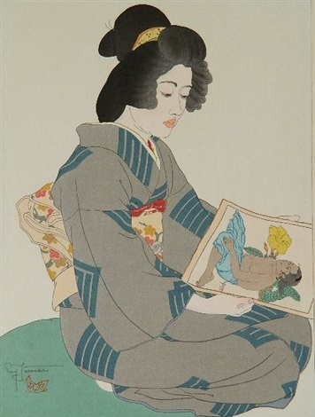 le geisha kiyoka by paul jacoulet