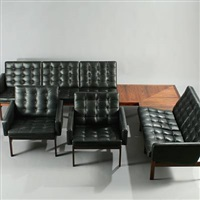 moduline sofas and corner table by ole & torben lind gjerlov-knudsen