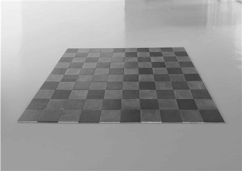 steel lead alloy square in 100 parts by carl andre