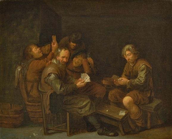 bauern beim kartenspiel by david ryckaert iii