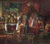 vue d'une chambre d'apparat au palazzo reale de turin by alexander henri robert van maasdijk