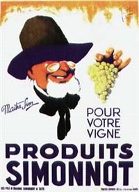 produits simonnot pour votre vigne, maître sim (poster by jean hee and aah) by posters: advertising