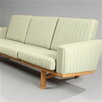 three-seater sofa ge 236 (model ge 236/3) by hans j. wegner