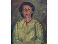portrait of a lady by piet (pieter gerhardus) van heerden