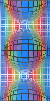 geometrische komposition by victor vasarely