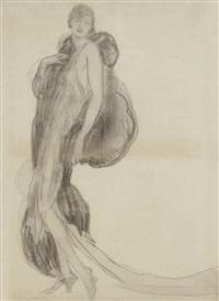 portrait présumé de louise brook by jean-gabriel domergue