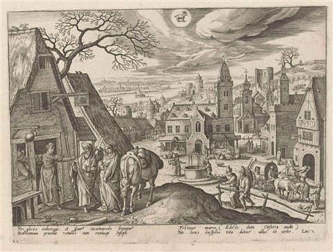 the months of the year with scenes from the life of christ set of 12 after adriaen collaert by hans bol