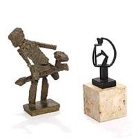 rider and adjustable sculpture ( 2 works) by robert jacobsen