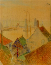 the haven over the housetop, volendam by john rettig