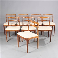 side chairs (set of 8) by johannes andersen