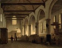 the bakenesserkerk, haarlem (after johannes bosboom) by jan baptiste tetar van elven