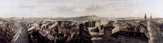 panorama von bern vom käfigthurm aus by rudolf huber