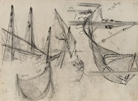 reise nach triest und chioggia (sketchbook w/27 works, most dbl-sided) by julius friedrich ludwig runge