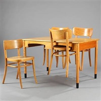 dining table and chairs (set of 5) by magnus læssoe stephensen