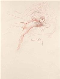 les pastorales de longus ou daphnis et chloé (bk by longus w/23 works + add'l portfolio of 20, 4 separate etchings and 1 drawing) by henri (hirne) le riche