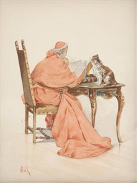 la lecture du cardinal by alfred charles weber
