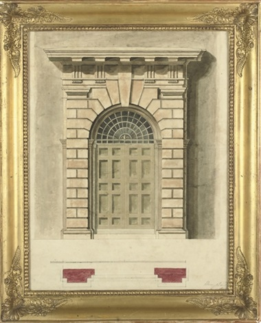 design for a palladian doorway 3 others 4 works by henry bailey