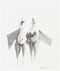 two winged figures by lynn chadwick