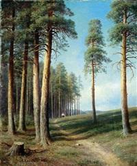 weg am waldrand by mikhail konstantinovich klodt von jurgensburg