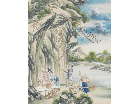Stages of tea processing by Chinese School (18) on artnet