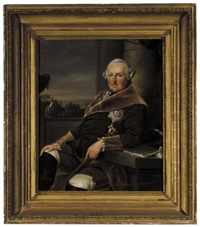 portrait of ferdinand duke of brunswick-wolfenbüttel (after johann georg ziesenis) by friedrich georg weitsch
