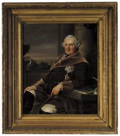 portrait of ferdinand duke of brunswick wolfenbüttel after johann georg ziesenis by friedrich georg weitsch