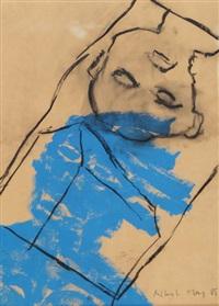 kopfstand mit blau by albert merz