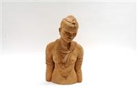 buste de jeune femme africaine by anna quinquaud