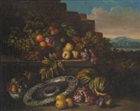 großes stillleben mit früchten und einer silberschale by jan pauwel gillemans the younger