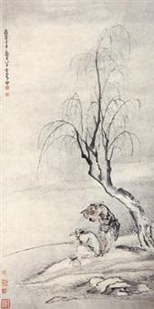 寒江钓雪 by huang shen
