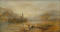 bingen, rhine by james vivien de fleury
