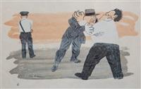 laissez faire or the strike breakers (prescott 8) by ben shahn