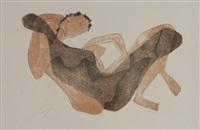 femme allongée au bras léve by henri laurens